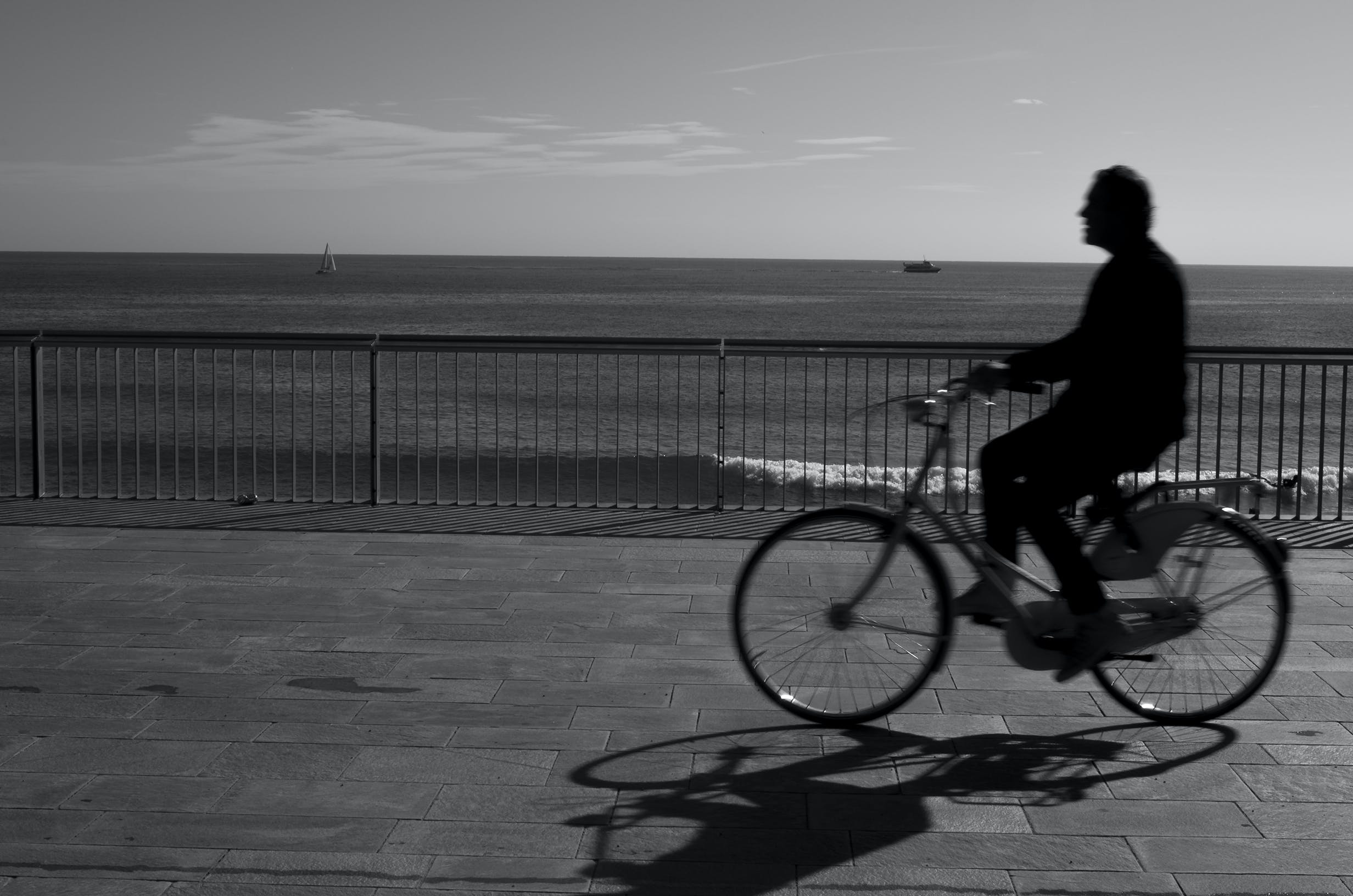 Free stock photo of B/W, barcelona, BCN, bike