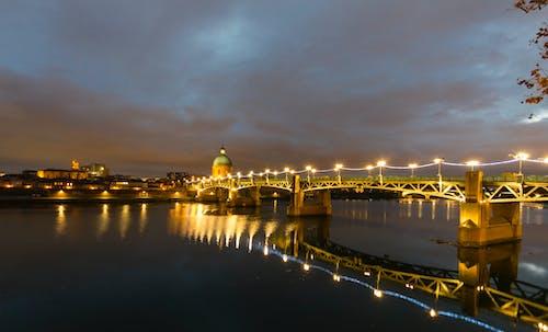 Free stock photo of bridge, light bulb, night, Toulose