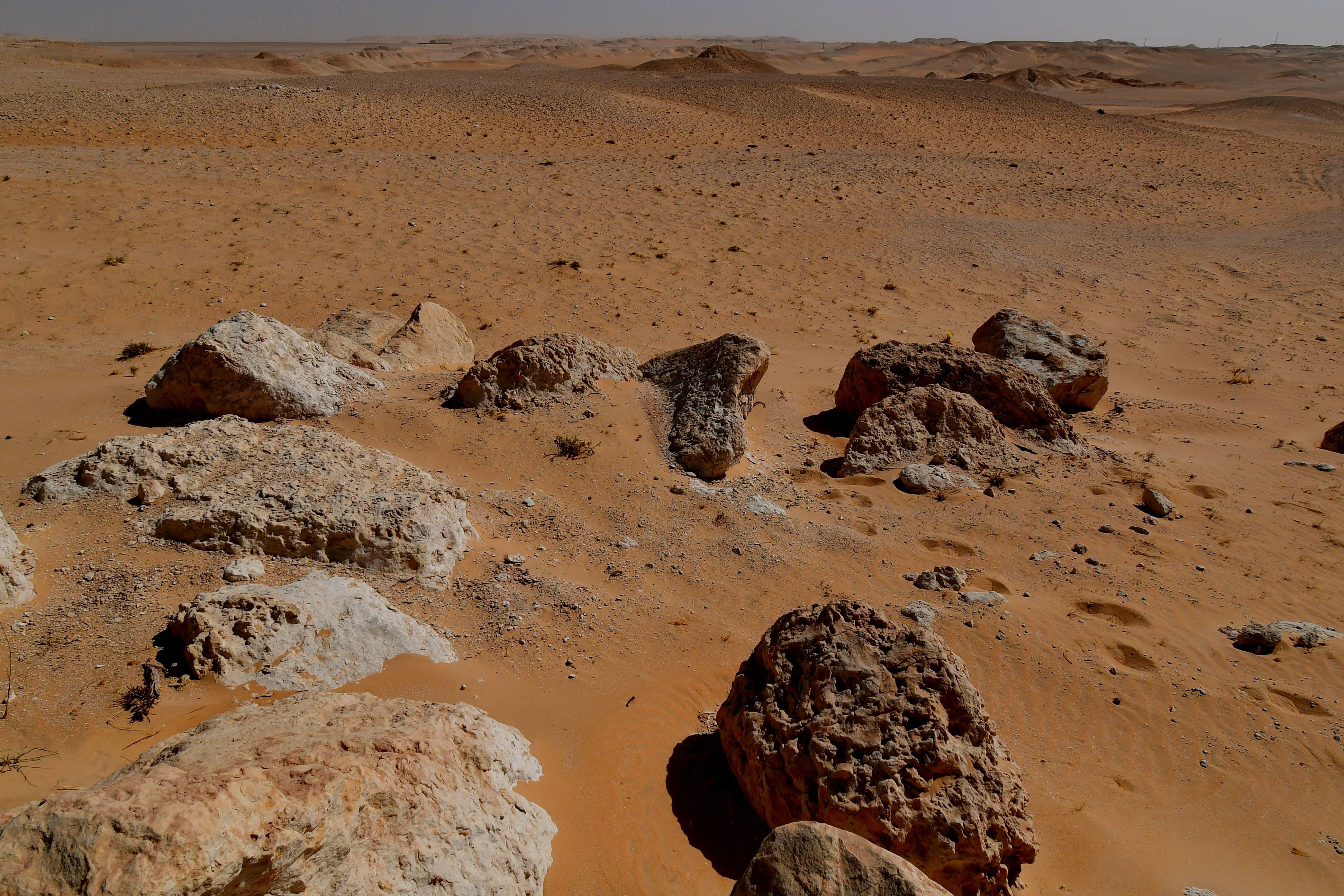 felsiger berg, verlassen, wüste