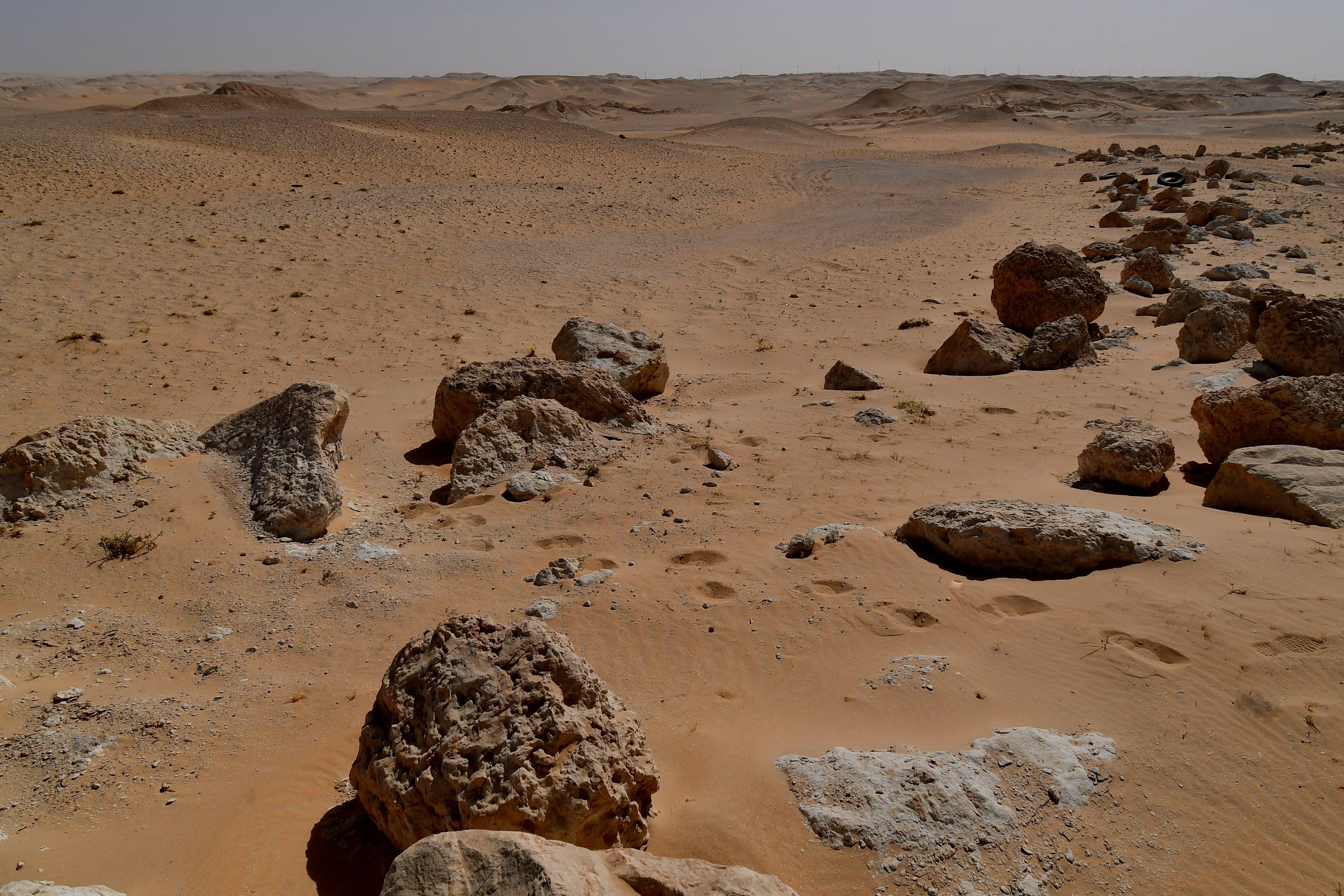 felsiger berg, wüste