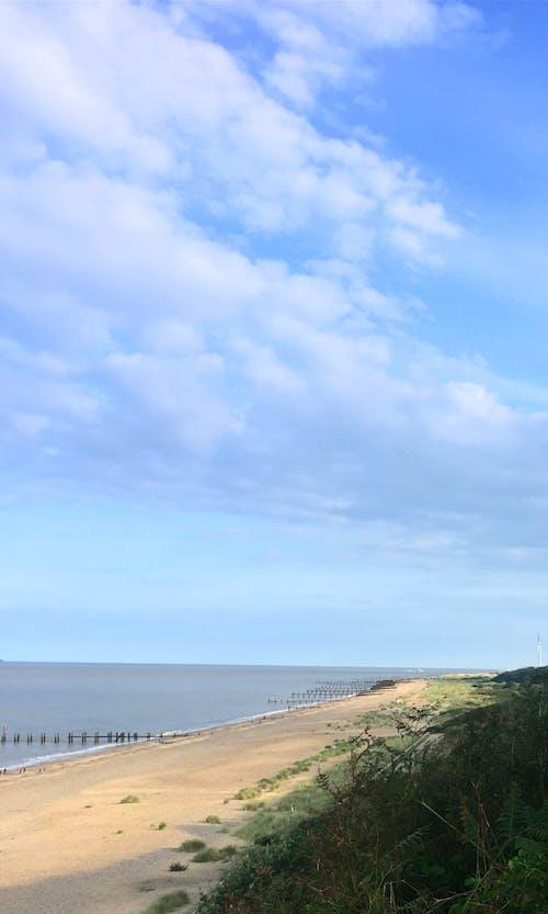 クリフサイド, ビーチ, 崖, 海の無料の写真素材