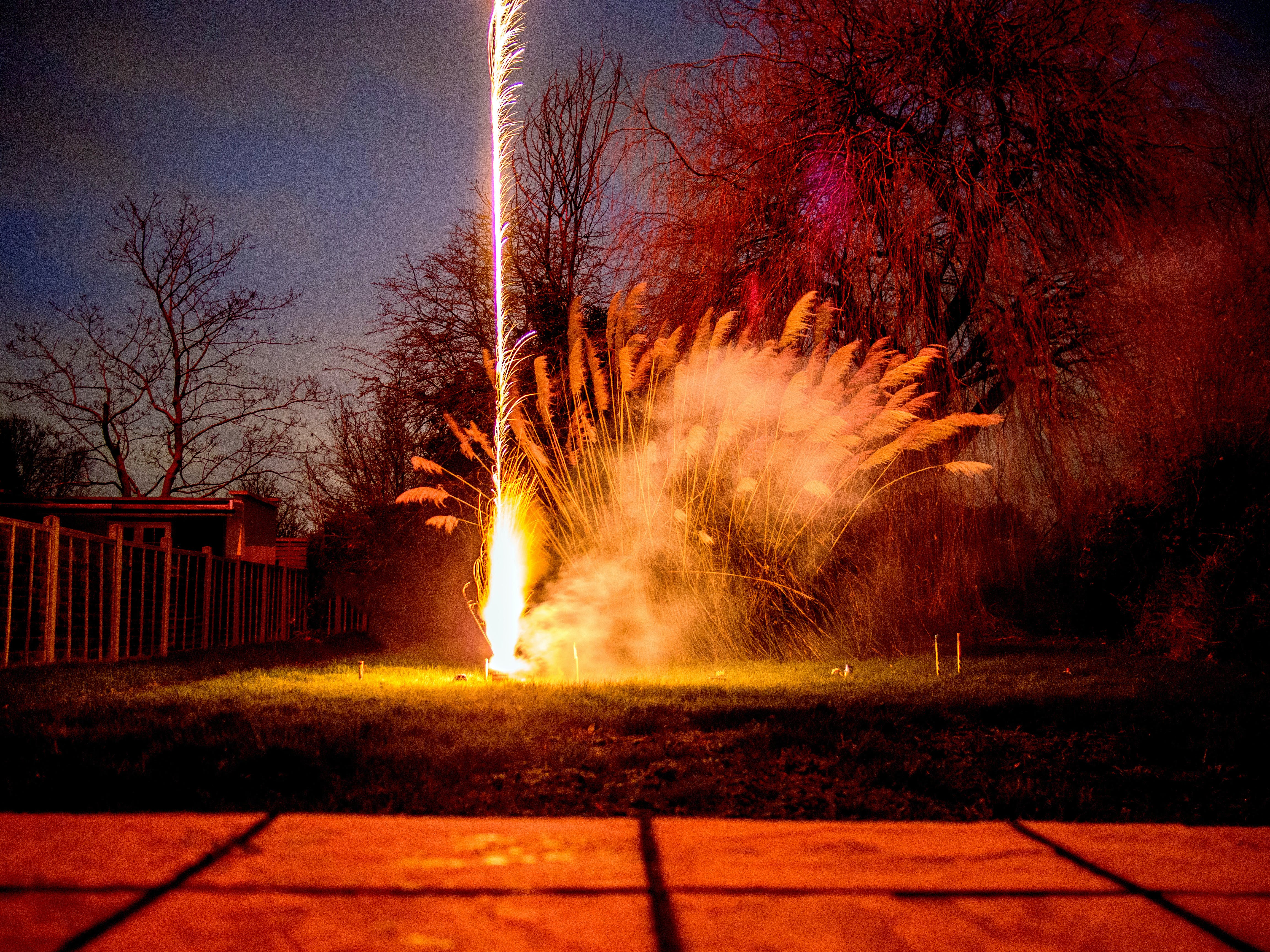 Time Lapse Photography of Firework during Nighttime
