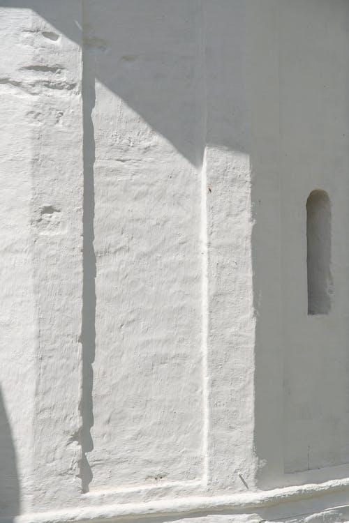 Photo of A Rough White Concrete Wall