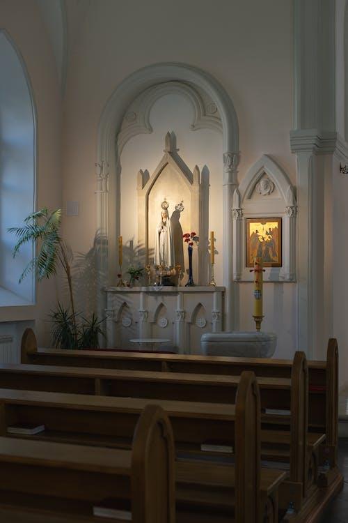 White and Gold Church Interior