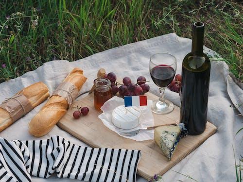 Foto stok gratis anggur, baguette, dewan