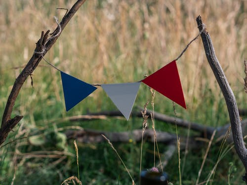 Red and Blue Star Hanging Decor