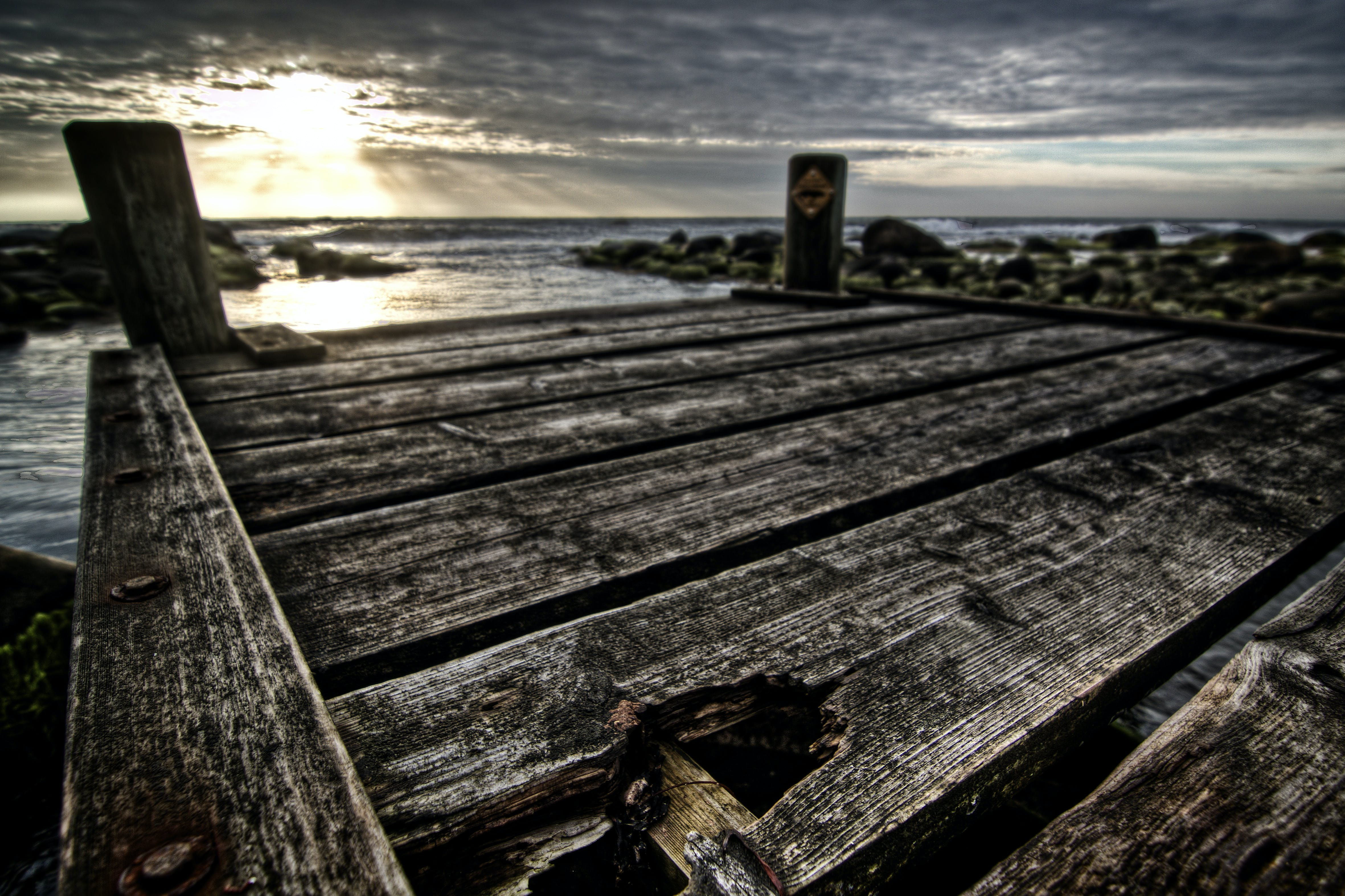 Free stock photo of Baltic Sea, clouds, evening sun, hdr
