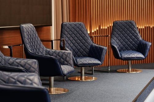 Free stock photo of armchairs, comfort, conference room
