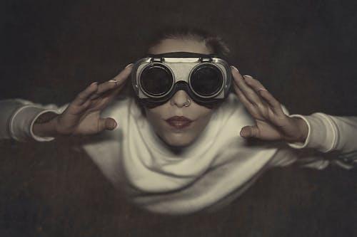 Child Wearing Black Framed Sunglasses