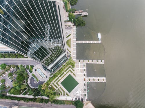 Aerial View of a Building