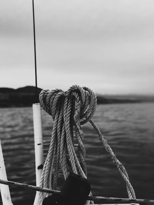 Rope Tied on Wooden Post