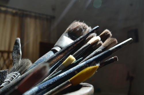 คลังภาพถ่ายฟรี ของ ความคิดสร้างสรรค์, พู่กัน, ศิลปะ, สว่าง