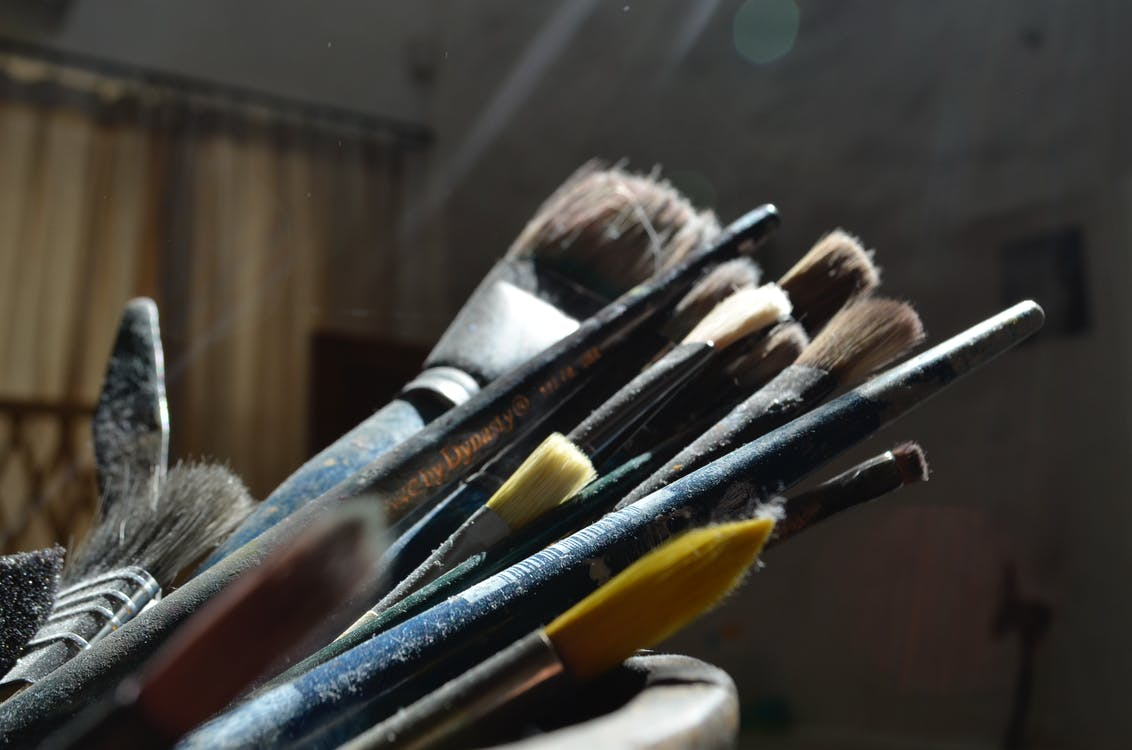 ความคิดสร้างสรรค์, พู่กัน, ศิลปะ