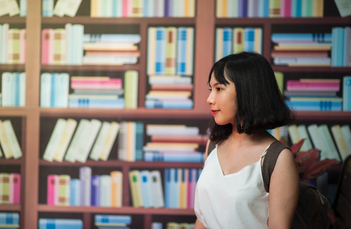 adentro, biblioteca, conocimiento