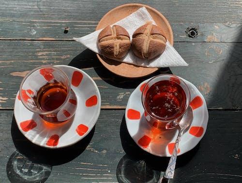 Foto profissional grátis de café da manhã, canecas, chá