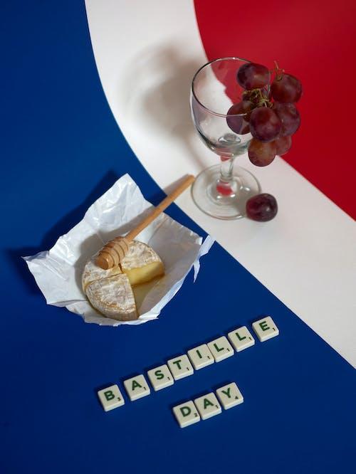 Immagine gratuita di articoli di vetro, bandiera della francia, bevanda