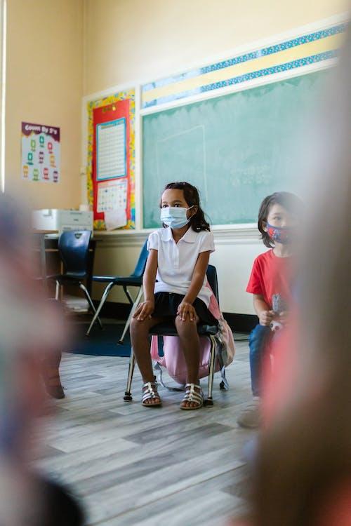 Children Wearing Face Masks inside the Classroom