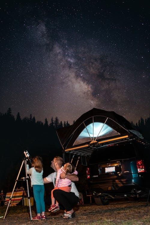 Kostenloses Stock Foto zu astronomie, campen, camping