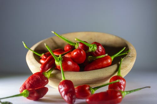 Red Chili Peppers on a Bowl