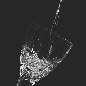 Time-lapse Clear Wine Glass With Water