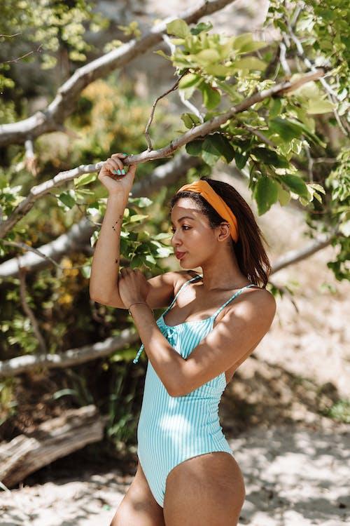Darmowe zdjęcie z galerii z bikini, cień, gałęzie
