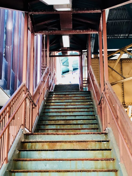 tog, trappe, trin