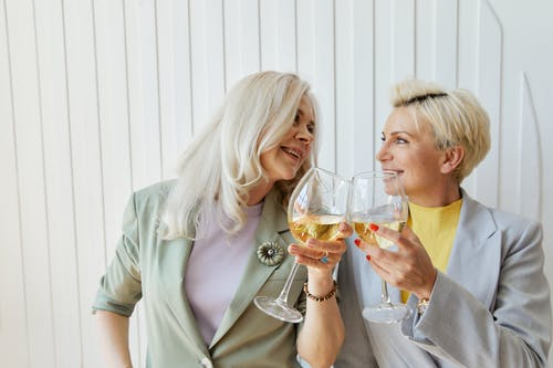 Free stock photo of adult, blond, champagne