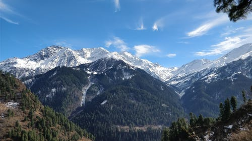 Δωρεάν στοκ φωτογραφιών με kasol, βουνό, γαλάζιος ουρανός, Ιμαλάια