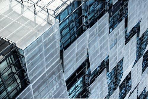 คลังภาพถ่ายฟรี ของ ภูมิทัศน์, ฤดูหนาว, สีน้ำเงิน, อาคารอพาร์ทเมนท์