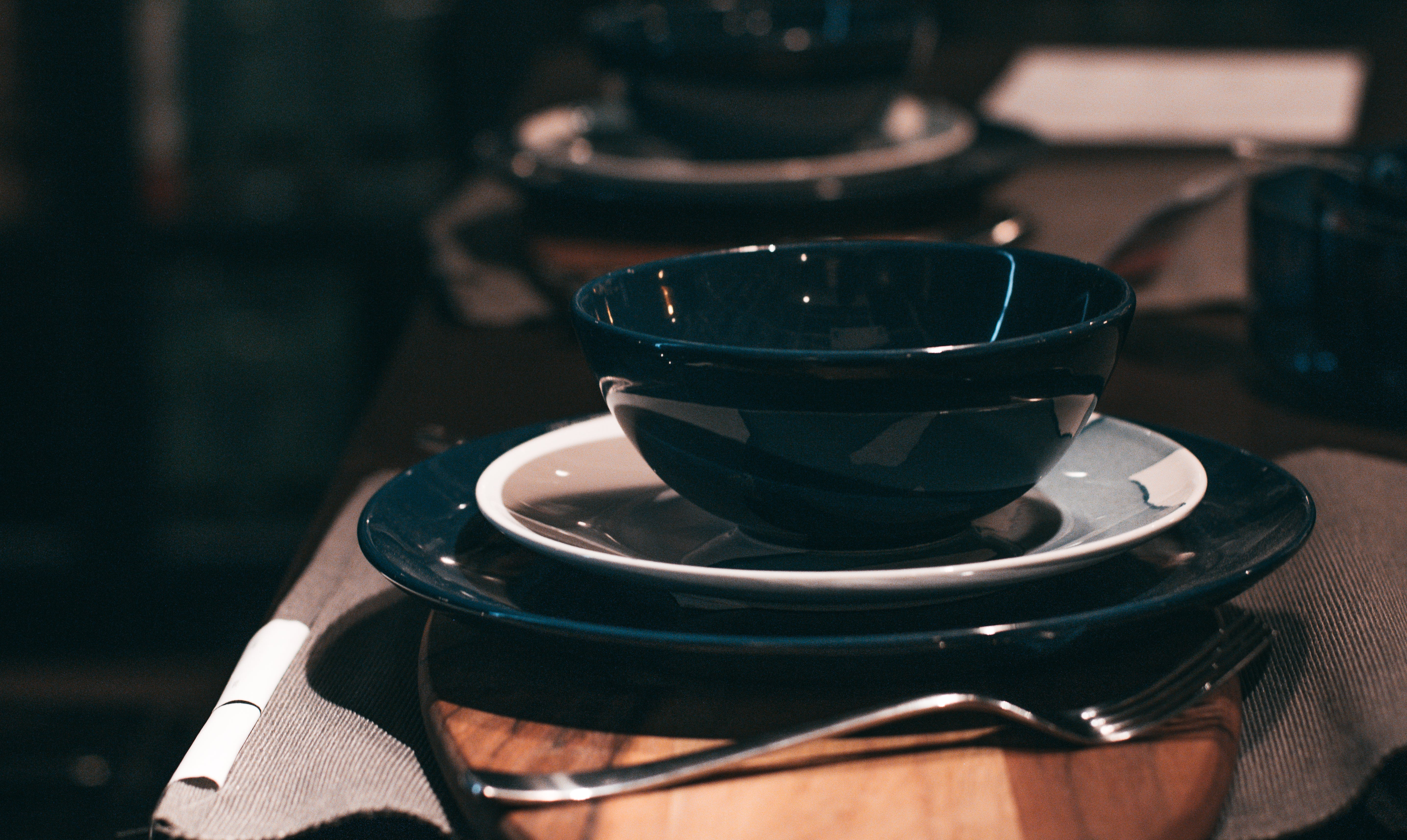 Free stock photo of architectural design, blue, ceramic plate, cmyl