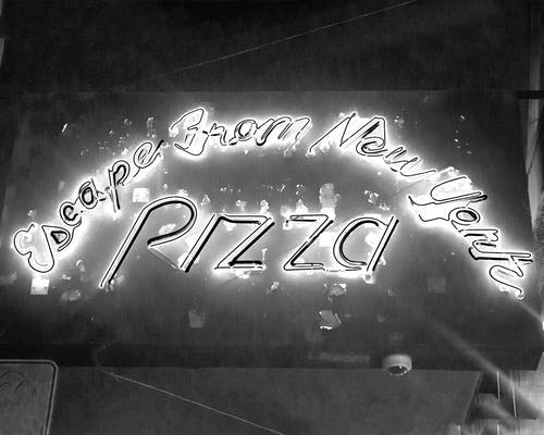 Photos gratuites de enseigne au néon, new york, pizza