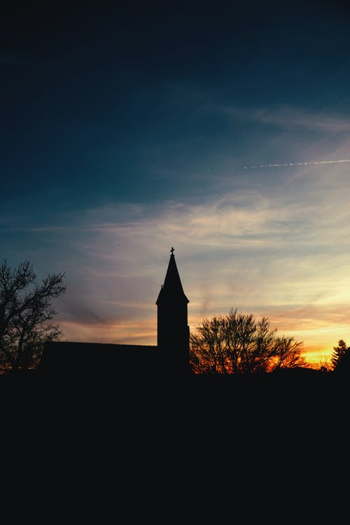Free stock photo of building, church, evening sky, evening sun