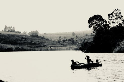 划船, 壩, 船 的 免费素材照片