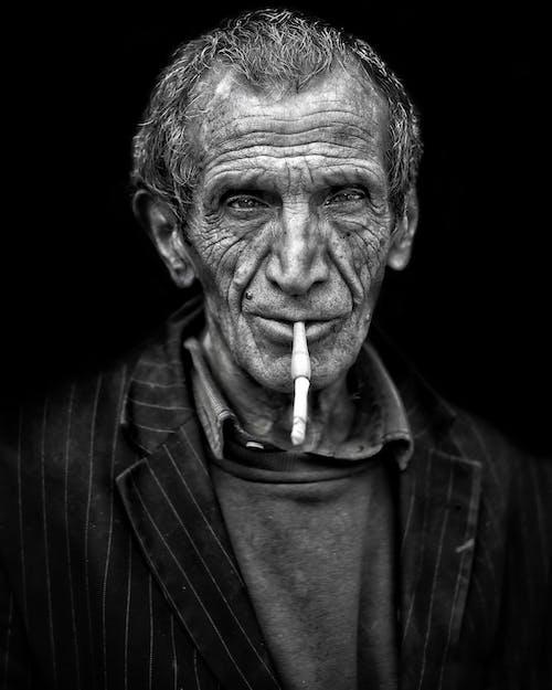 คลังภาพถ่ายฟรี ของ การสูบบุหรี่, ขาวดำ, ควัน