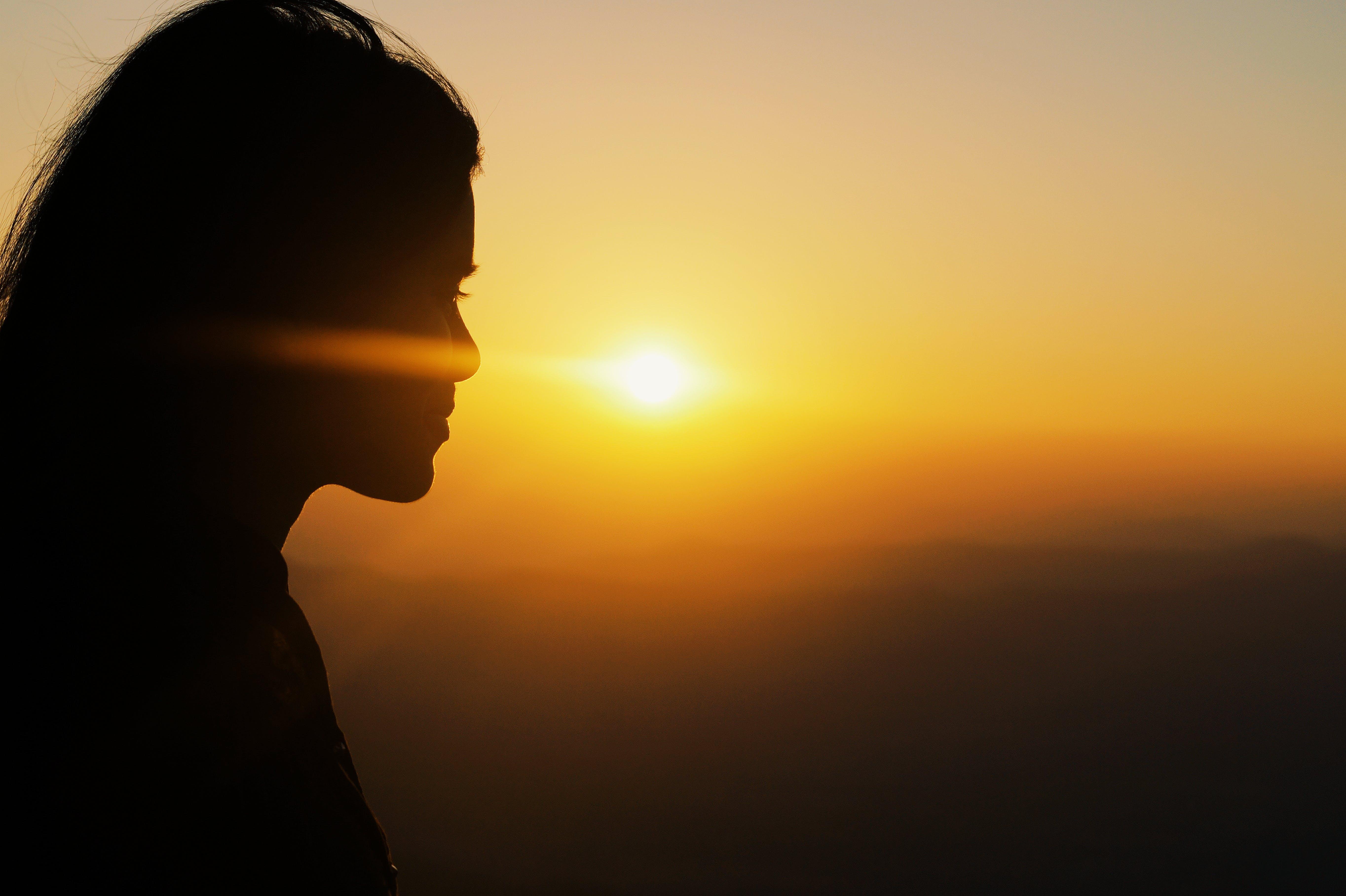 Free stock photo of sunset, girl, sunrise, yellow