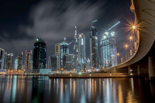 光迹, 城市, 城市的燈光, 塔 的 免費圖庫相片