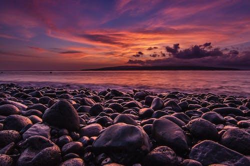 Immagine gratuita di acqua, cielo, fotografia grandangolare, litorale