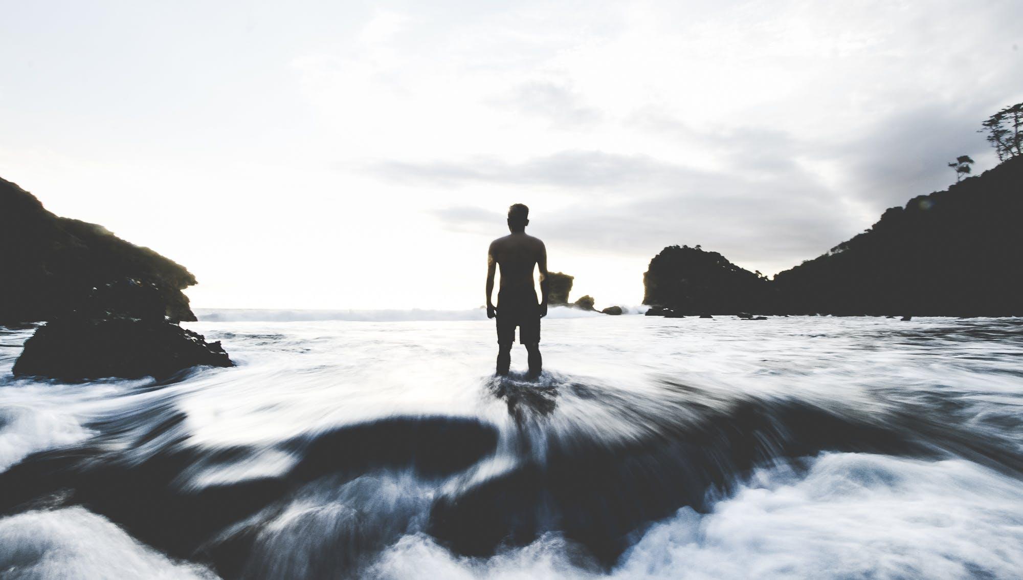 Free stock photo of beach, gloomy, landscape, long exposure