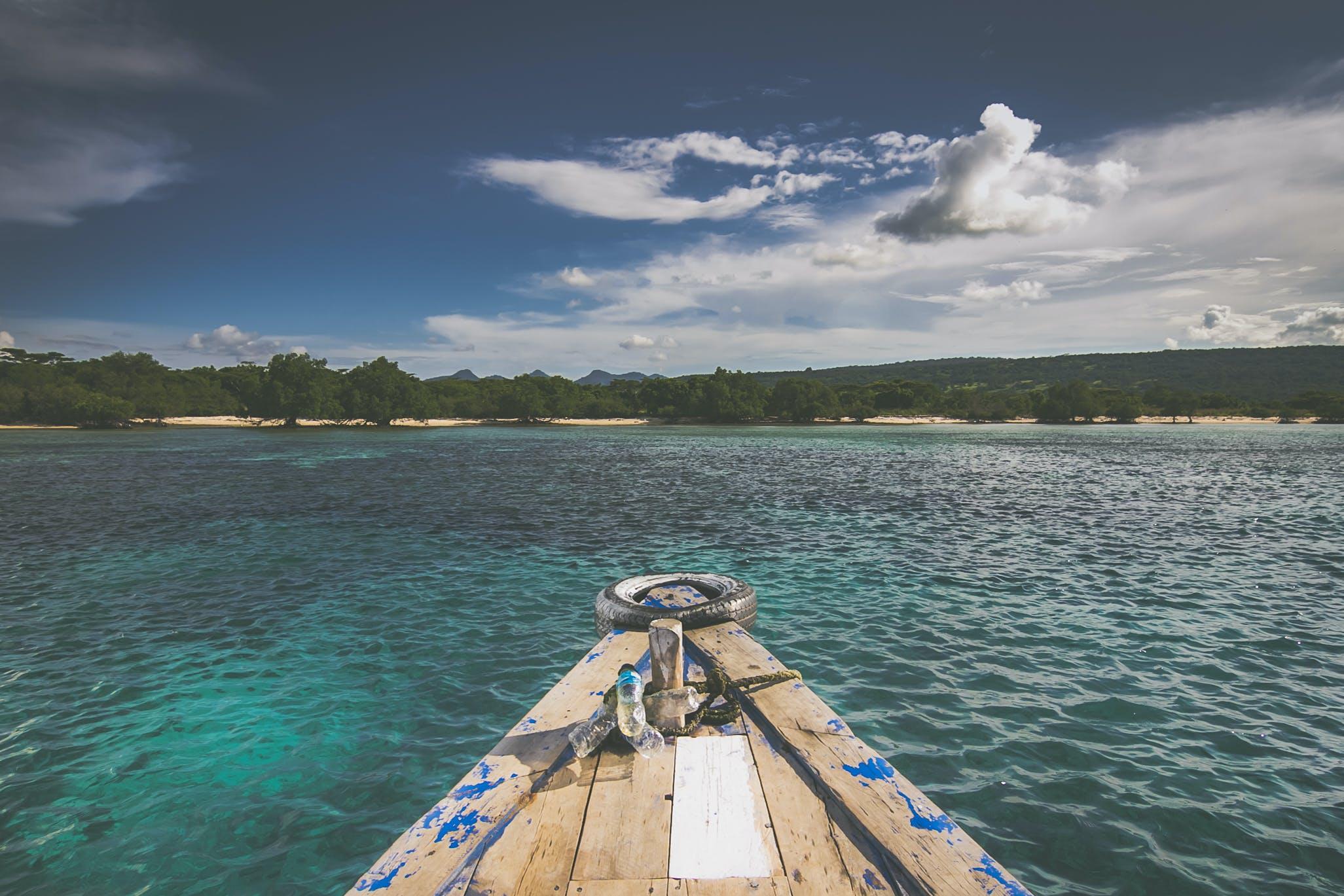 Free stock photo of blue, boat, boat deck, fisherman
