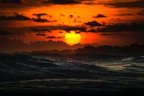 경치, 골든 아워, 바다, 일몰의 무료 스톡 사진