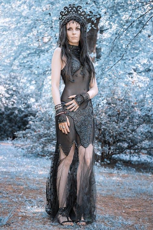 A Woman in Black Dress