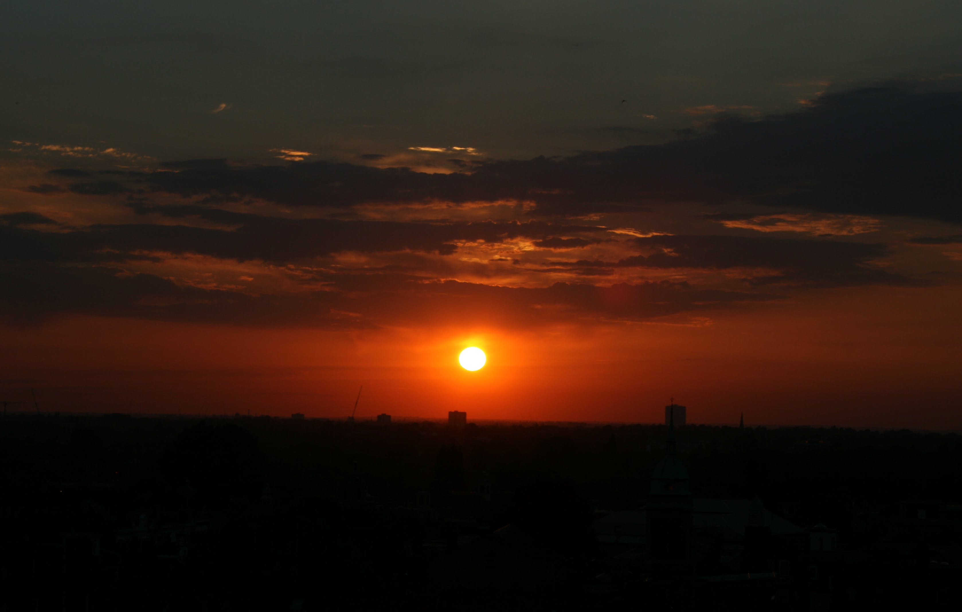 Free stock photo of city sunset, evening sun, golden sunset, sunset