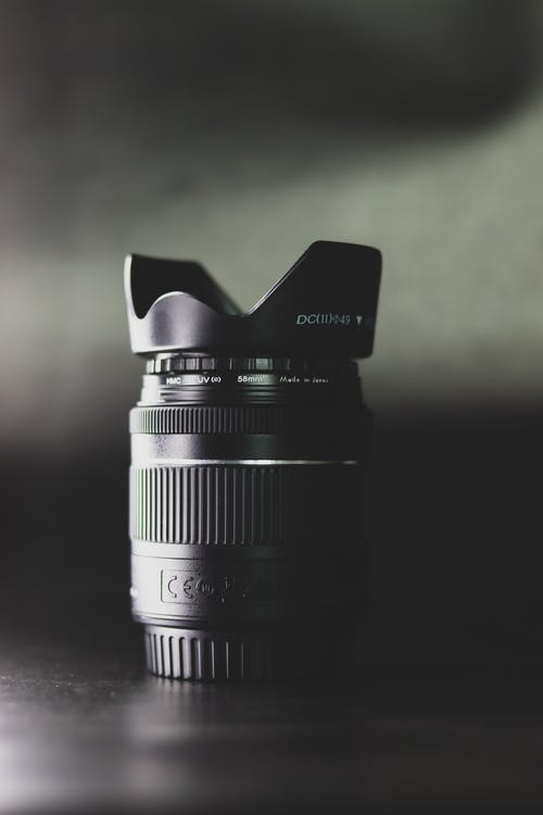 A Black Color Camera Lens