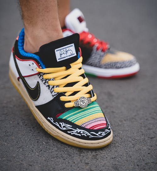 A Close-Up Shot of Colorful Sneakers