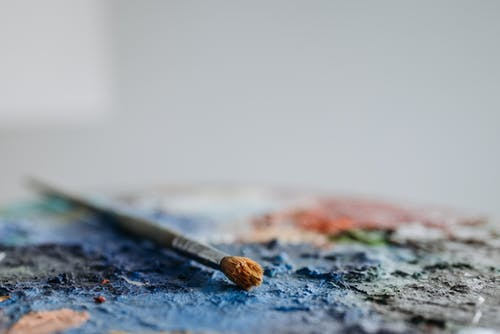 A Paint Brush Used in Painting