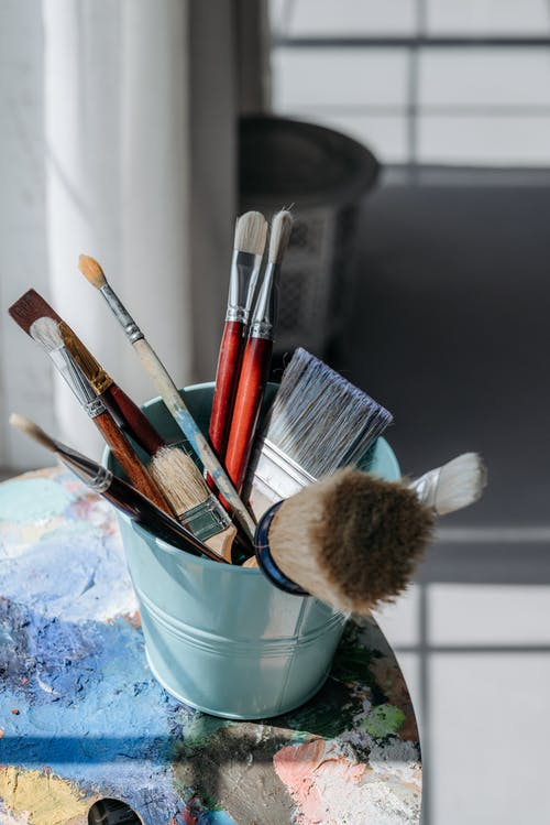 Paint Brushes in a Bucket