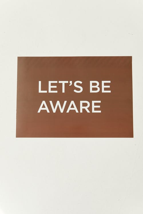 Lets Be Aware Message