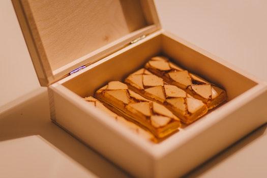 Free stock photo of food, wood, sweet, box