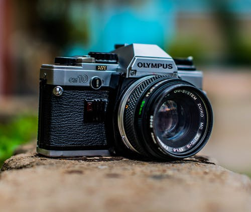 Close-up Photo of an Analogue Camera