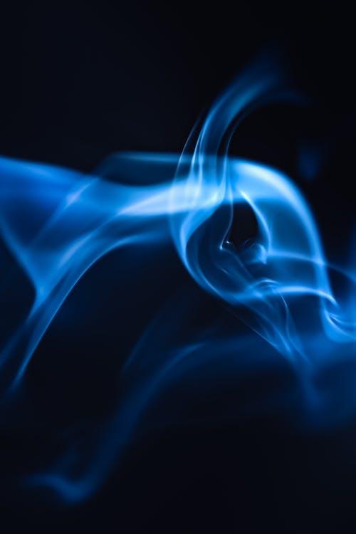 Blue and White Smoke Illustration